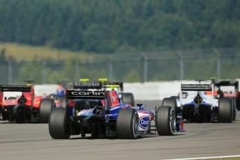 World © Octane Photographic Ltd. GP2 German GP, Nurburgring, Sunday 7th July 2013. Race 2. Jolyon Palmer - Carlin. Digital Ref : 0747lw1d8167