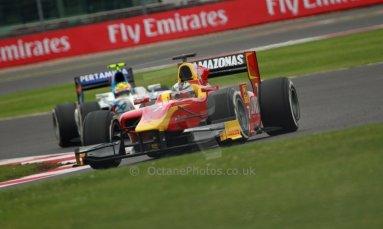 World © Octane Photographic Ltd. GP2 British GP, Silverstone, Friday 28th June 2013. Practice. Julián Leal - Racing Engineering. Digital Ref: 0725cj7d0670
