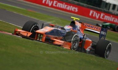 World © Octane Photographic Ltd. GP2 British GP, Silverstone, Friday 28th June 2013. Practice. Jon Lancaster - Hilmer Motorsport. Digital Ref : 0725cj7d0780