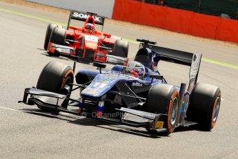 World © Octane Photographic Ltd./Chris Enion. GP2 British GP, Silverstone, Saturday 29th June 2013. Race 1. Sam Bird – Russian TIME. Digital Ref : 0731ce1d8240