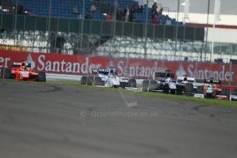 World © Octane Photographic Ltd. GP2 British GP, Silverstone, Sunday 30th June 2013. Race 2 Sam Bird – Russian TIME and Jake Rosenzweig - Barwa Addax Team lead the pack. Digital Ref : 0732lw1d1772