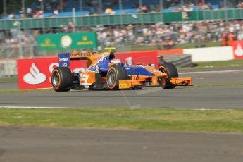 World © Octane Photographic Ltd. GP2 British GP, Silverstone, Sunday 30th June 2013. Race 2 winner Jon Lancaster - Hilmer Motorsport. Digital Ref : 0732lw1d1863