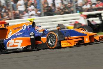 World © Octane Photographic Ltd. GP2 British GP, Silverstone, Sunday 30th June 2013. Race 2 winner Jon Lancaster - Hilmer Motorsport. Digital Ref : 0732lw1d1867