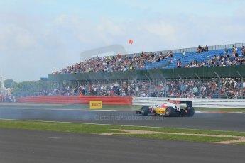 World © Octane Photographic Ltd. GP2 British GP, Silverstone, Sunday 30th June 2013. Race 2 Daniel Abt – ART Grand Prix spins. Digital Ref : 0732lw1d1969