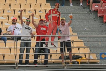 World © Octane Photographic Ltd. GP2 Spanish GP, Circuit de Catalunya, Friday 10th May 2013. Qualifying. Ferrari Fans. Digital Ref : 0662cb1d9672