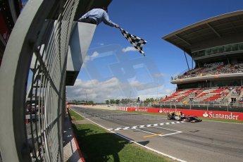 World © Octane Photographic Ltd. GP2 Spanish GP, Circuit de Catalunya, Saturday 11th May 2013. Race 1.Felipe Nasr - Carlin. Digital Ref : 0666cb1d1643