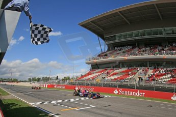 World © Octane Photographic Ltd. GP2 Spanish GP, Circuit de Catalunya, Saturday 11th May 2013. Race 1. Jolyon Palmer - Carlin. Digital Ref : 0666cb1d1647
