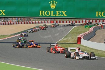 World © Octane Photographic Ltd. GP2 Spanish GP, Circuit de Catalunya, Sunday 12th May 2013. GP2 Race 2. Start of race with Alexander Rossi – Caterham. Digital Ref : 0670cb1d2176