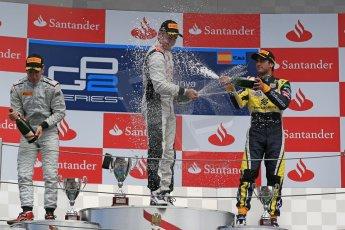 World © Octane Photographic Ltd. GP2 Spanish GP, Circuit de Catalunya, Sunday 12th May 2013. GP2 Race 2. Stefano Coletti – Rapax and Felipe Nasr - Carlin. Digital Ref : 0670cb1d2355