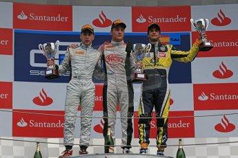 World © Octane Photographic Ltd. GP2 Spanish GP, Circuit de Catalunya, Sunday 12th May 2013. GP2 Race 2. Stefano Coletti – Rapax, Robin Frijns - Hilmer Motorsport and Felipe Nasr - Carlin. Digital Ref : 0670cb1d2399