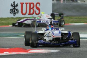 World © Octane Photographic Ltd. GP3 Qualifying - Saturday 11th May 2013 Dallara GP3/13 - Circuit de Catalunya. Koiranen GP – Kevin Korjus and Status Grand Prix – Adderly Fong. Digital ref : 0669cb1d0339