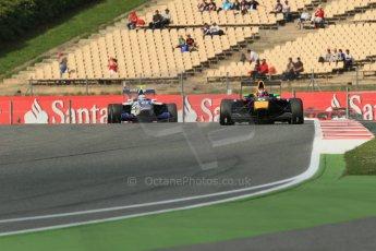 World © Octane Photographic Ltd. GP3 Qualifying - Friday 11th May 2013 Dallara GP3/13 - Circuit de Catalunya. MW Arden – Daniil Kvyat and Koiranen GP – Aaro Vaino. Digital ref : 0669cb1d0665