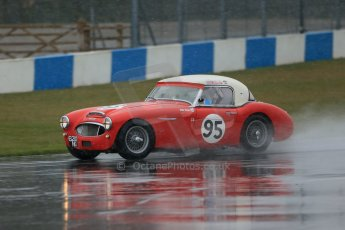 World © Octane Photographic Ltd. Donington Park 80th Anniversary Meeting (March 1933 – March 2013). HSCC Guards Trophy Car Championship supported by Dunlop Tyres. Denis Welch – Austin Healey 3000. Digital Ref : 0600lw1d6008