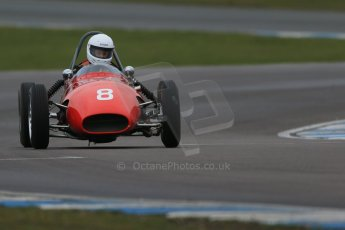 World © Octane Photographic Ltd. Donington Park 80th Anniversary Meeting (March 1933 – March 2013). HSCC/FJHRA Historic Formula Junior Championship – Race A Front Engine, morning practice and qualifying. Gordon Russell – Gemini Mk2. Digital Ref : 0598lw1d5179