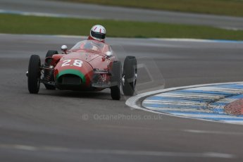 World © Octane Photographic Ltd. Donington Park 80th Anniversary Meeting (March 1933 – March 2013). HSCC/FJHRA Historic Formula Junior Championship – Race A Front Engine, morning practice and qualifying. Michael Ashley-Brown – Volpini-Fiat Monoposto. Digital Ref : 0598lw1d5226