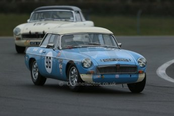 World © Octane Photographic Ltd. Donington Park 80th Anniversary Meeting (March 1933 – March 2013). HSCC Historic Road Sports Championship supported by Witchampton Garage (Inc. Class B2 Guards Trophy), morning practice and qualifying. Colin Kingsnorth/Edd Horder – MGB. Digital Ref : 0599lw1d5298