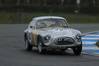 World © Octane Photographic Ltd. Donington Park 80th Anniversary Meeting (March 1933 – March 2013). HSCC Historic Road Sports Championship supported by Witchampton Garage (Inc. Class B2 Guards Trophy), morning practice and qualifying. Samuel Thomas – AC Aceca. Digital Ref : 0599lw1d5313