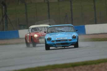 World © Octane Photographic Ltd. Donington Park 80th Anniversary Meeting (March 1933 – March 2013). HSCC 70s Road Sport Championship (Inc. Class B2 Guards Trophy). Steve Cooke – TVR 3000M and Andrew Bentley – MGB. Digital Ref : 0590lw1d6097