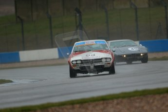 World © Octane Photographic Ltd. Donington Park 80th Anniversary Meeting (March 1933 – March 2013). HSCC 70s Road Sport Championship (Inc. Class B2 Guards Trophy). Bob Trotter – Alfa Romeo 2000 GTV and Graham Burgess – Maserati Bora. Digital Ref : 0590lw1d6107
