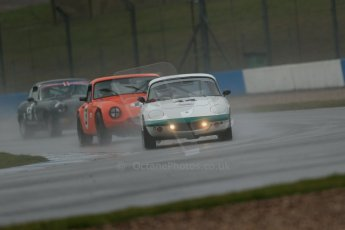World © Octane Photographic Ltd. Donington Park 80th Anniversary Meeting (March 1933 – March 2013). HSCC 70s Road Sport Championship (Inc. Class B2 Guards Trophy). Alan Harper – Lotus Elan S4, Ian Forward – TVR Tamar and Robert Gate – Jaguar E-Type. Digital Ref : 0590lw1d6155