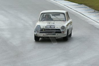 World © Octane Photographic Ltd. Donington Park 80th Anniversary Meeting (March 1933 – March 2013). HSCC/HRSR ByBx Historic Touring Car Championship. Tim Davies in his repaired Ford Lotus Cortina. Digital Ref : 0592lw1d6666