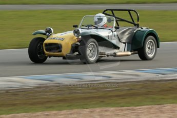 World © Octane Photographic Ltd. Donington Park 80th Anniversary Meeting (March 1933 – March 2013). HSCC Historic Road Sports Championship supported by Witchampton Garage (Inc. Class B2 Guards Trophy). Simon Haughton – Lotus 7. Digital Ref : 0594lw1d7004