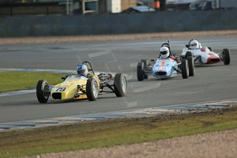 World © Octane Photographic Ltd. Donington Park 80th Anniversary Meeting (March 1933 – March 2013). HSCC Classic Racing Cars Championship, supported by the Cubicle Centre. Josh West – Merlyn Mk20A, Jonathan Baines – Merlyn Mk20 and John Moulds – Crossle 20F. Digital Ref :