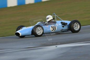 World © Octane Photographic Ltd. Donington Park 80th Anniversary Meeting (March 1933 – March 2013). HSCC/FJHRA Historic Formula Junior Championship – Race B, Rear Engine cars, Classes C-E. David Hall – BMC Huffaker Mk2. Digital Ref : 0596lw1d7312