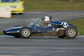 World © Octane Photographic Ltd. Donington Park 80th Anniversary Meeting (March 1933 – March 2013). HSCC/FJHRA Historic Formula Junior Championship – Race B, Rear Engine cars, Classes C-E. Andrew Robertson – Crossle 4F. Digital Ref : 0596lw1d7464