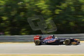 World © Octane Photographic Ltd. F1 Hungarian GP - Hungaroring. Friday 26th July 2013. F1 Practice 2. Scuderia Toro Rosso STR8 - Jean-Eric Vergne. Digital Ref : 0760lw1d0573