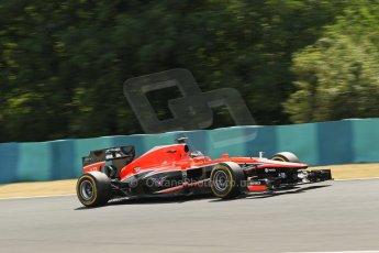 World © Octane Photographic Ltd. F1 Hungarian GP - Hungaroring. Friday 26th July 2013. F1 Practice 2. Marussia F1 Team MR02 - Jules Bianchi. Digital Ref : 0760lw1d0588
