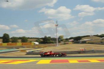 World © Octane Photographic Ltd. F1 Hungarian GP - Hungaroring. Friday 26th July 2013. F1 Practice 2. Scuderia Ferrari F138 - Fernando Alonso. Digital Ref : 0760lw1d0661