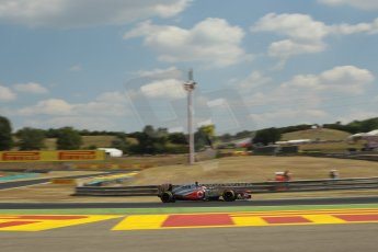World © Octane Photographic Ltd. F1 Hungarian GP - Hungaroring. Friday 26th July 2013. F1 Practice 2. Vodafone McLaren Mercedes MP4/28 - Jenson Button. Digital Ref : 0760lw1d0669