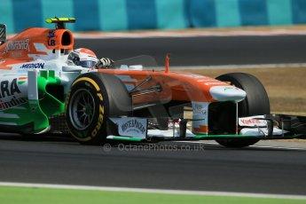 World © Octane Photographic Ltd. F1 Hungarian GP - Hungaroring. Friday 26th July 2013. F1 Practice 2. Sahara Force India VJM06 - Adrian Sutil. Digital Ref : 0760lw1d1949