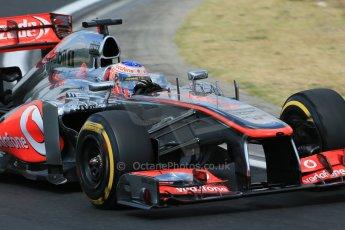 World © Octane Photographic Ltd. F1 Hungarian GP - Hungaroring. Friday 26th July 2013. F1 Practice 2. Vodafone McLaren Mercedes MP4/28 - Jenson Button. Digital Ref : 0760lw1d2133