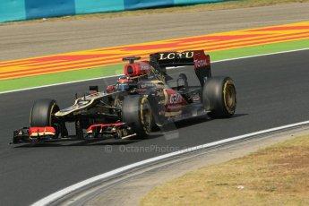 World © Octane Photographic Ltd. F1 Hungarian GP - Hungaroring. Thursday. 25th July 2013. F1 Practice 2. Lotus F1 Team E21 - Kimi Raikkonen. Digital Ref : 0760lw1d2232