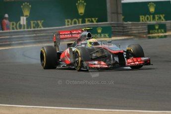 World © Octane Photographic Ltd. F1 Hungarian GP - Hungaroring. Saturday 27th July 2013. F1 Qualifying. Vodafone McLaren Mercedes MP4/28 - Sergio Perez . Digital Ref : 0764lw1d3944