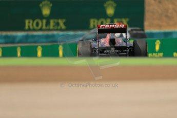 World © Octane Photographic Ltd. F1 Hungarian GP - Hungaroring. Saturday 27th July 2013. F1 Qualifying. Scuderia Toro Rosso STR 8 - Daniel Ricciardo. Digital Ref : 0764lw1d4017