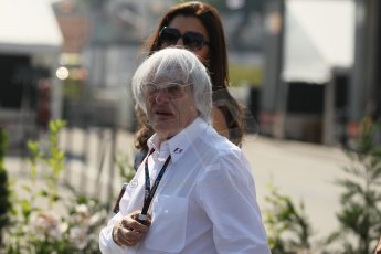 World © Octane Photographic Ltd. F1 Hungarian GP - Hungaroring, Saturday 27th July 2013 - Paddock. Bernie Ecclestone. Digital Ref : 0762lw1d0746
