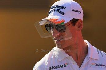 World © Octane Photographic Ltd. F1 Hungarian GP - Hungaroring, Saturday 27th July 2013 - Paddock. Sahara Force India - Adrian Sutil. Digital Ref : 0762lw1d2905