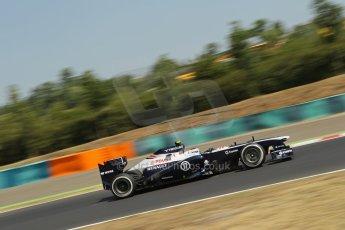 World © Octane Photographic Ltd. F1 Hungarian GP - Hungaroring, Saturday 27th July 2013 - Practice 3. Williams FW35 - Valtteri Bottas. Digital Ref : 0763lw1d0781