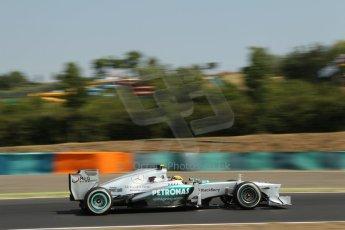 World © Octane Photographic Ltd. F1 Hungarian GP - Hungaroring, Saturday 27th July 2013 - Practice 3. Mercedes AMG Petronas F1 W04 – Lewis Hamilton. Digital Ref : 0763lw1d0790