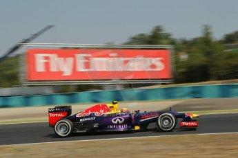 World © Octane Photographic Ltd. F1 Hungarian GP - Hungaroring, Saturday 27th July 2013 - Practice 3. Infiniti Red Bull Racing RB9 - Mark Webber. Digital Ref : 0763lw1d0824