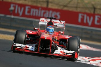 World © Octane Photographic Ltd. F1 Hungarian GP - Hungaroring, Saturday 27th July 2013 - Practice 3. Scuderia Ferrari F138 - Fernando Alonso. Digital Ref : 0763lw1d3141