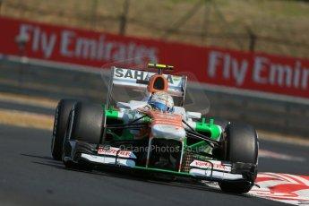 World © Octane Photographic Ltd. F1 Hungarian GP - Hungaroring, Saturday 27th July 2013 - Practice 3. Sahara Force India VJM06 - Adrian Sutil. Digital Ref : 0763lw1d3262