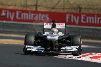 World © Octane Photographic Ltd. F1 Hungarian GP - Hungaroring, Saturday 27th July 2013 - Practice 3. Williams FW35 - Pastor Maldonado. Digital Ref : 0763lw1d3351