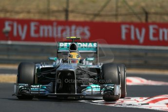 World © Octane Photographic Ltd. F1 Hungarian GP - Hungaroring, Saturday 27th July 2013 - Practice 3. Mercedes AMG Petronas F1 W04 – Lewis Hamilton. Digital Ref : 0763lw1d3355
