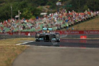 World © Octane Photographic Ltd. F1 Hungarian GP - Hungaroring, Saturday 27th July 2013 - Practice 3. Mercedes AMG Petronas F1 W04 – Lewis Hamilton. Digital Ref : 0763lw1d3782
