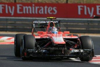 World © Octane Photographic Ltd. F1 Hungarian GP - Hungaroring. Friday 26th July 2013. F1 Practice 1. Marussia F1 Team MR02 - Rudolfo Gonzales. Digital Ref : 0758lw1d0781