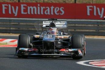 World © Octane Photographic Ltd. F1 Hungarian GP - Hungaroring. Friday 26th July 2013. F1 Practice 1. Sauber C32 - Nico Hulkenberg. Digital Ref : 0758lw1d0798